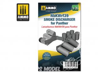 Ammo Mig accessoire 8128 NbKWrf39 Déchargeur de grenandes fumigènes pour Panther 1/35