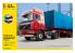 Heller maquette camion 57702 Volvo F12-20 Globetrotter et Remorque porte Container ensemble complet 1/32