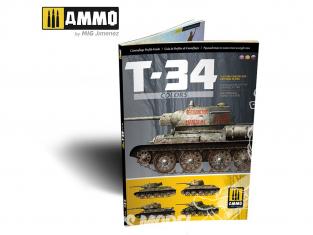 MIG Librairie 6145 Couleurs T-34 Guide profile camouflage en Anglais - Espagnol - Russe