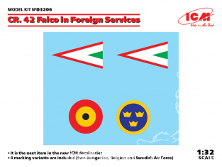 Icm decalques D3206 Fiat CR. 42 Falco dans les services étrangers 1/32