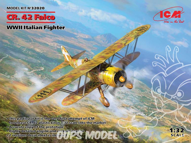 Icm maquette avion 32020 Fiat CR.42 Falco 1/32