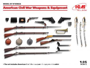 Icm maquette figurines 35022 Armes et équipement de la guerre civile américaine 1/35