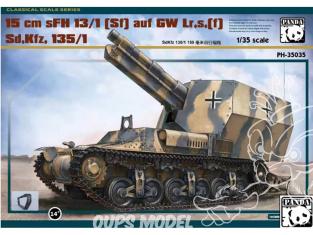 Panda Hobby maquette militaire 35035 15 cm sFH 13/1(Sf) auf GW Lr.s.(f) Sd.Kfz.135/1 1/35