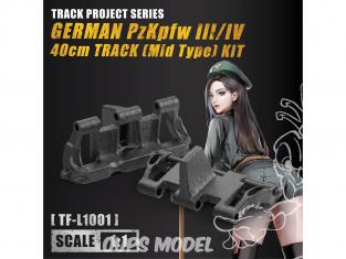 Tori Factory maquette militaire TF-L1001 Maillon de chenille PzKpfw III/IV 40cm Edition Limitée 1/1
