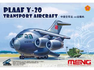 Meng maquette avion MPlane009 PLAAF Y-20 nom de code Kunpeng déploie ses ailes et s'envole
