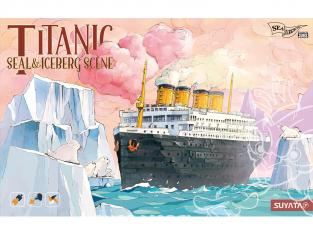 Suyata maquette cartoon SL001 Titanic avec Iceberg et phoques