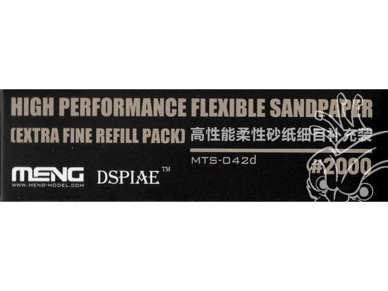 MENG MTS-042d Papier abrasif flexible haute performance grain 2000