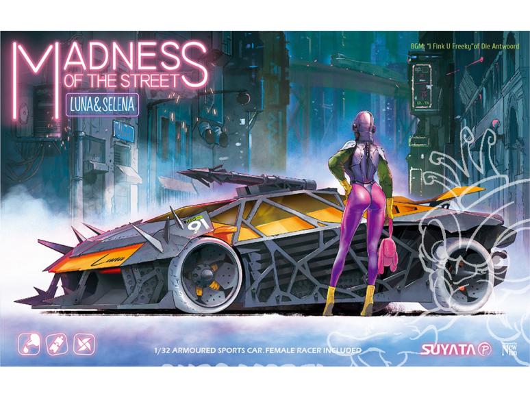 Suyata maquette cartoon MS001 Madness of the Street Luna & Selena 1/32