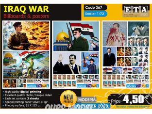 ETA diorama 367 Guerre Iraq Posters et photos Sadam Hussein 1/72
