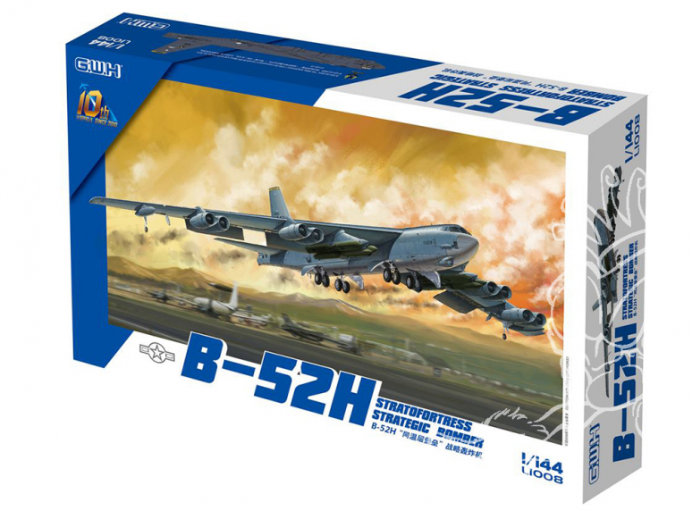 Great Wall Hobby maquette avion L1008 B-52H Stratofortress Bombardier Stratégique 1/144