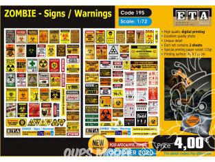 ETA diorama 195 Zombie signes d'avertissement 1/72