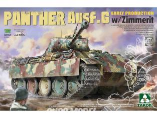 Takom maquette militaire 2134 Panther Ausf.G début de production avec Zimmerit 1/35