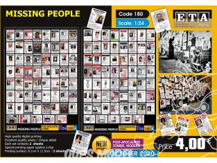 ETA diorama 180 Zombie personnes disparues 1/24