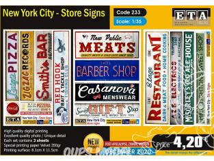 ETA diorama 233 Moderne NewYork City enseignes 1/35