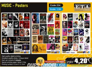 ETA diorama 234 Moderne Posters de musique 1/35