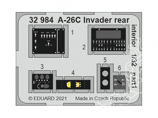Eduard photodécoupe avion 32984 Intérieur arrière A-26C Invader Hobby Boss 1/32