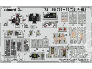 Eduard photodecoupe avion SS735 Zoom amélioration F-4EJ Fine Molds 1/72