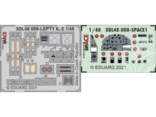 Eduard Space décalques 3D 3DL48008 IL-2 Zvezda 1/48