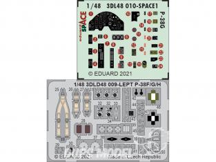 Eduard Space décalques 3D 3DL48009 P-38F Tamiya 1/48