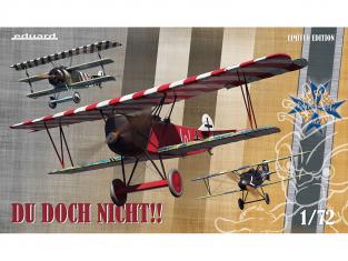 EDUARD maquette avion 2135 Du Doch Nicht !! Avions d'Ernst Udet Edition Limitée Triple Combo 1/72