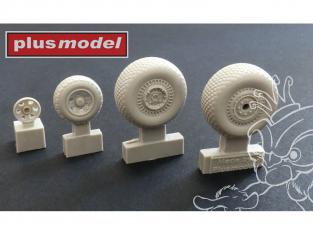 Plus Model AL7058 B-26 Marauder premières roues motif rainuré 1/72