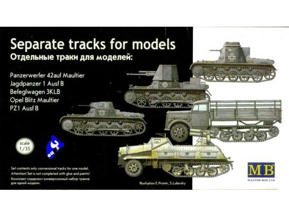 mb maquette 3505 chenilles Maultier 1/35
