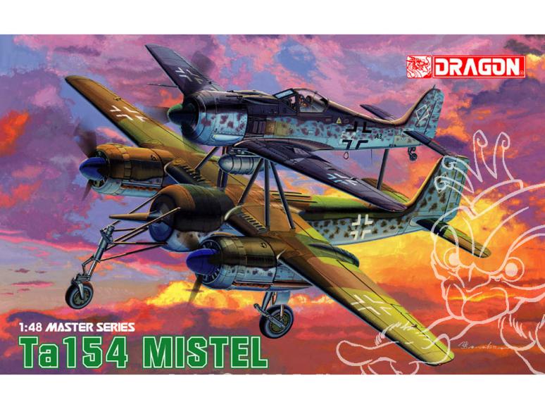 Dragon maquette avion 5553 Ta 154 Mistel 1/48