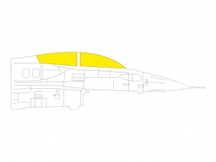 Eduard Express Mask EX761 F-16I SUFA Kinetic 1/48