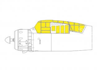 Eduard Express Mask CX592 Lysander Mk.III Dora Wings 1/72