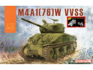 Dragon maquette militaire 7571 Sherman M4A1 (76) W VVSS avec bonus 1/72