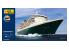 HELLER maquette militaire 56626 STARTER KIT Queen Mary 2 inclus peintures principale colle et pinceau 1/600