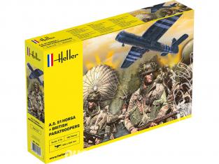 Heller maquette avion 30313 A.S. 51 Horsa avec parachutistes 1/72