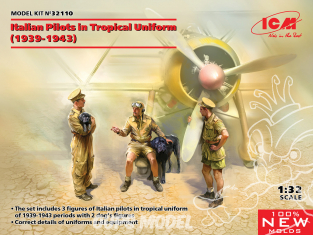 Icm maquette avion 32110 Pilotes italiens en uniforme tropical (1939-1943) 1/32