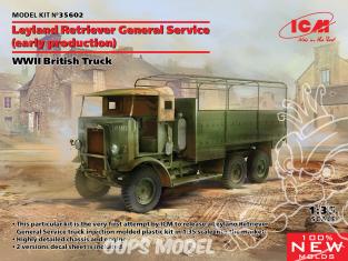 Icm maquette militaire 35602 Leyland Retriever General Service (début de production) 1/35