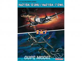 Dragon maquette avion 5121 He219A-0 UHU / He219A-7 OWL (2 in 1) 1/72