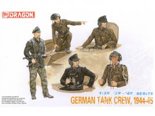 dragon maquette militaire 6014 Équipage de char allemand 1944-45 1/35