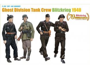 dragon maquette militaire 6654 Équipage de char allemand Ghost Division (Blitzkrieg 1940) 1/35