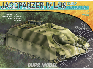 Dragon maquette militaire 7276 Jagdpanzer IV L/48 Early Production 1/72