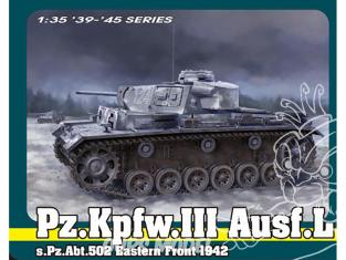 Dragon maquette militaire 6957 Pz.Kpfw.III Ausf.L s.Pz.Abt.502 Front de l'Est 1942 1/35