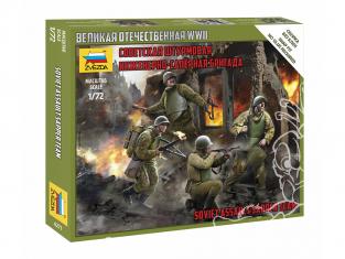 Zvezda maquette militaire 6271 Equipe de sapeurs d'assaut soviétique 1/72
