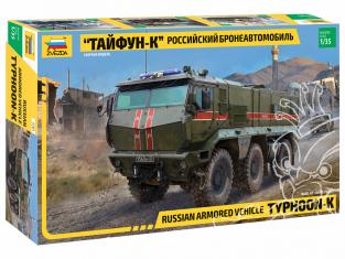 """Zvezda maquette militaire 3701 Véhicule blindé russe """"Typhoon-K"""" 1/35"""