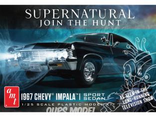 AMT maquette camion 1124 Chevy Impala 4 portes Supernatural 1967 1/25