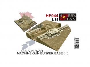 Hobby Fan kit resine HF044 U.S. guerre du Viêt Nam Base de bunker de mitrailleuse 1/35