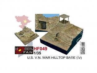 Hobby Fan kit resine HF049 U.S. guerre du Viêt Nam Base de la colline 1/35