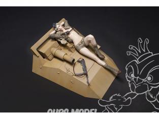 Hobby Fan kit personnages HF1205 Figurine resine Sd.Kfz.233 Valkyrie 1/12