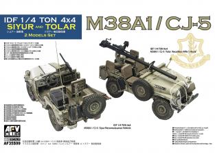 AFV CLUB maquette militaire 35S99 Deux Israël série M38A1 véhicules de reconnaissance et de véhicules d'appui-feu 1/35