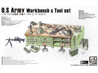 AFV CLUB maquette militaire 35302 Établi et ensemble d'outils de l'armée américaine (modèle en plastique) 1/35