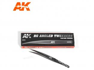 AK interactive ak9162 Pince de précision courbe pointe plate