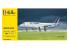 HELLER maquette avion 56448 STARTER KIT AIRBUS A320 Air France inclus colle pinceau et peintures 1/125