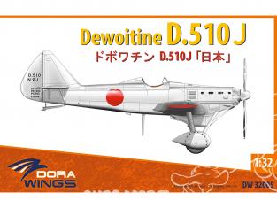 Dora Wings maquette avion DW32005 Dewoitine D.510J 1/32